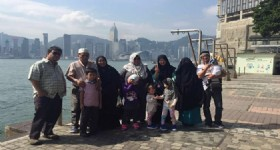 5 Days Hong Kong Tour- 12 People from Malaysia at Hong Kong Victoria Harbour
