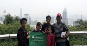 4 Days Hong Kong Tour- Visitors from Indonesia at Hong Kong Victoria Peak