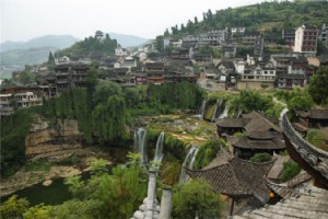 Walking in Furong Ancient Town