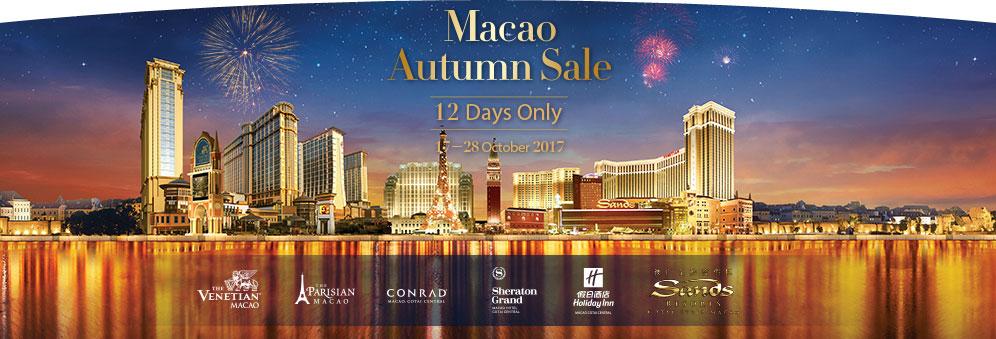 Macau Autunm Sale 12 Days Only