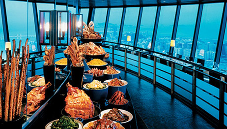 Macao Tower Tevolving Restaurant Buffet