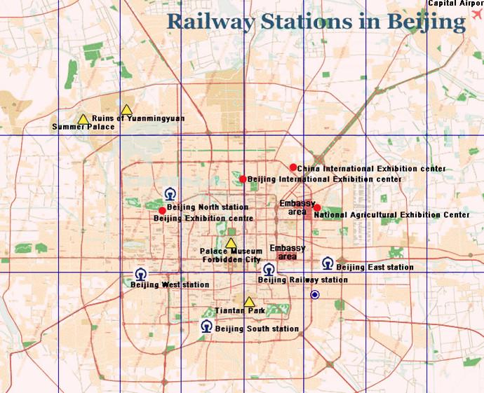 beijing travel map - beijing maps