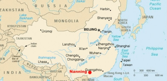 Nanning Location Map