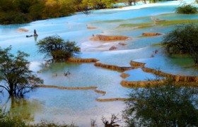 Jiuzhaigou and Huanglong 3 Days Independent Tour from Chengdu by Air