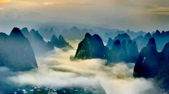 Sunrise Photo on Li River and Longsheng Rice Terraces