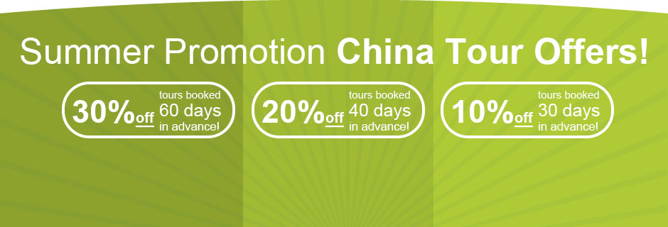 Summer Promotion China Tour Offers!