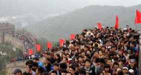 Record Number of Tourists during China National Holiday
