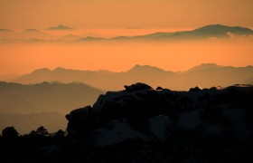 huangshan sunset winter