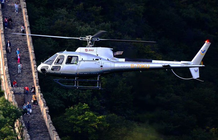 Badaling Great Wall and Wild Duck Lake Park Helicopter Tour 30 Minutes