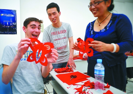 Chinese Paper Cutting Class in Xian
