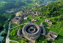 Hongkeng Tulou Cluster Panoramic View