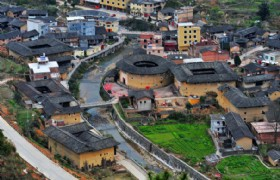 Nanxi Tulou clusters Panoramic View