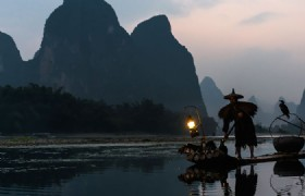 Li River Fisherman and cormorant