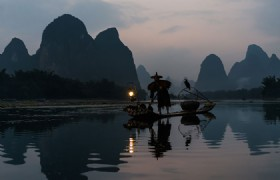 Li River Fishman on the Raft