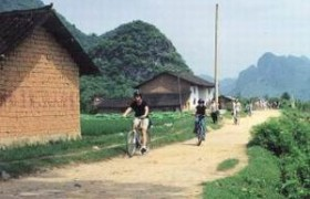 biking in gaotian county, Yangshuo
