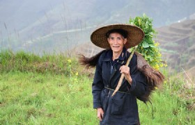 Hiking on longsheng rice terraces