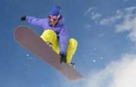 Snow boarding in Yabuli