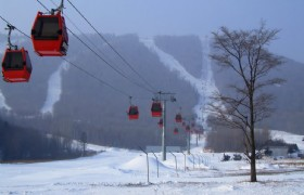 yabuli ski sun mountain cablecar