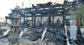 Fulong Temple of Taiyuan Burned Down