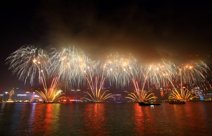 Hong Kong's Return to China Anniversary Cruise Firework  with Dinner