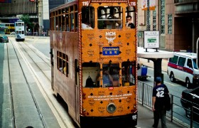 Ding dings double decker tram bus