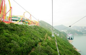 Ride the sky on the Ngong Ping cable car