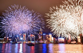 National Day Fireworks Cruise over Victoria Harbour with Dinner