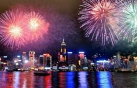 Fireworks cruise Hong Kong 2015