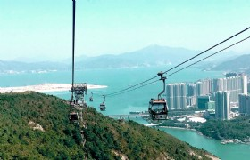 Lantau Island Crystal Cabin Cable Car Private Tour plus Tai O Village Boat Ride