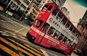 double decker bus hong kong