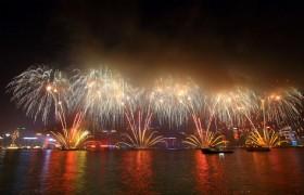 fireworks Victoria Harbour hk(1)