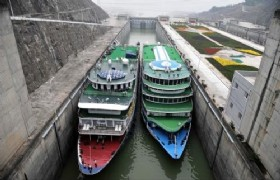 Shiplocks of three gorges dam