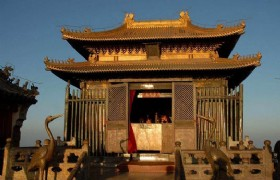 Golden shrine on golden peak Wudang mountain