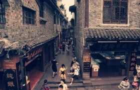 street of fenghuang old town
