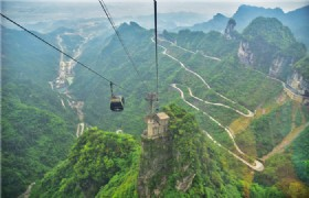 Tianmen Mountai Cable Car View