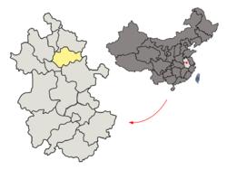 Bengbu Location Map
