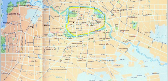 Hefei Tourist Map