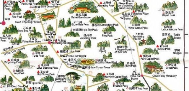 Huangshan Guide Map