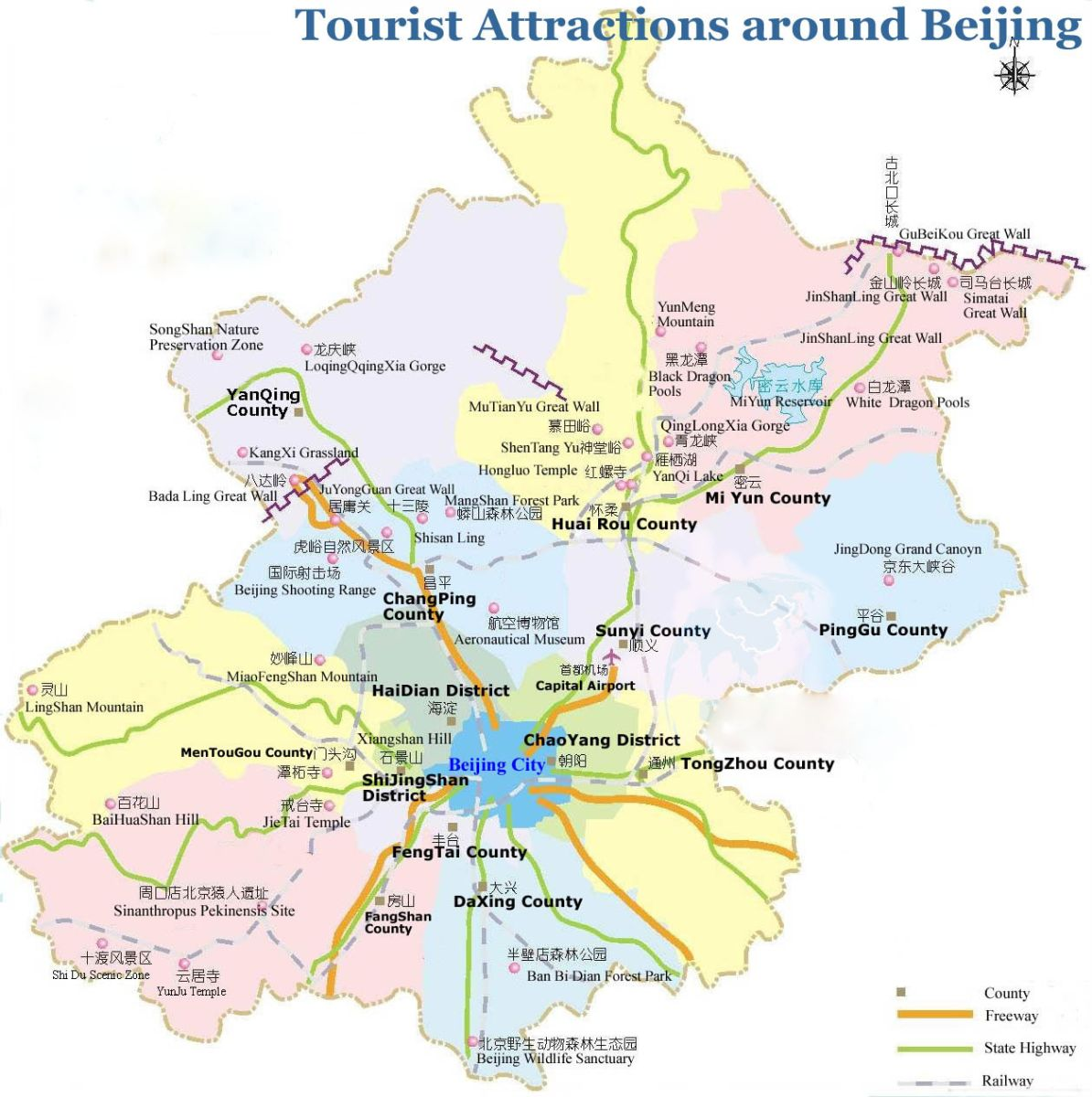 Beijing Tourist Map Beijing Maps China Tour Advisors