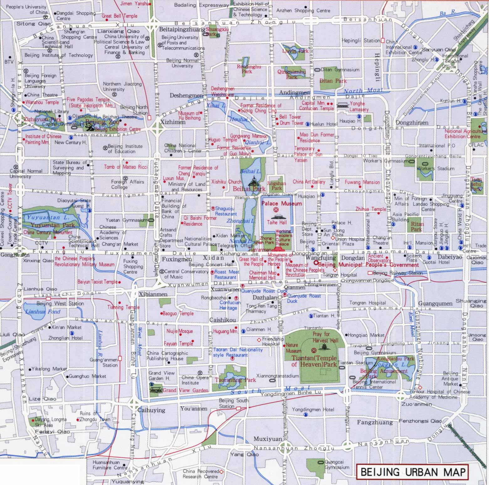 Beijing Urban Map Beijing Maps China Tour Advisors – Beijing Tourist Attractions Map