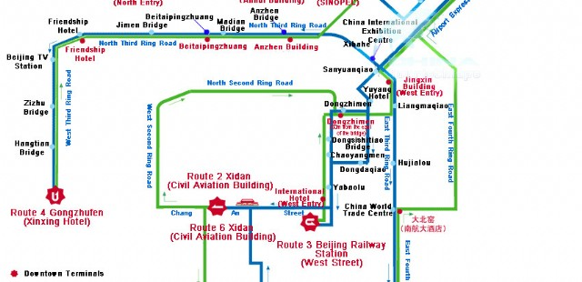 Beijing Bus Route Map
