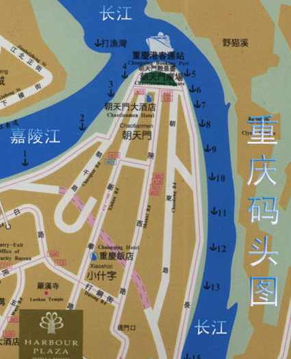 Chongqing Pier Map