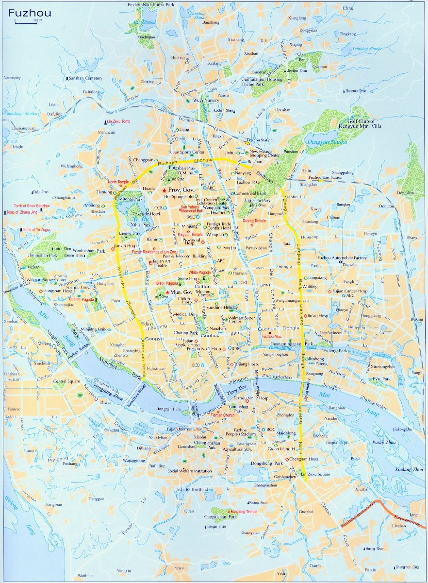 Fuzhou Travel Map