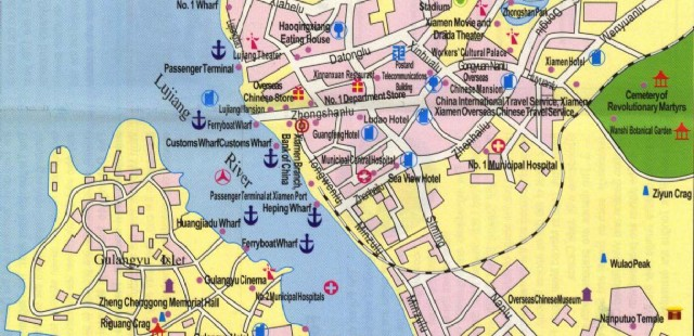 Xiamen Attractin Map