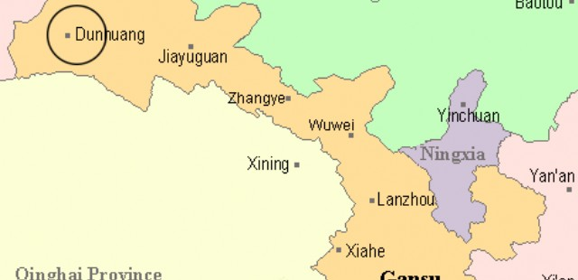 Dunhuang Location Map