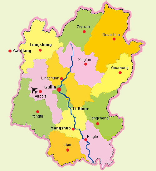 Guilin District Map
