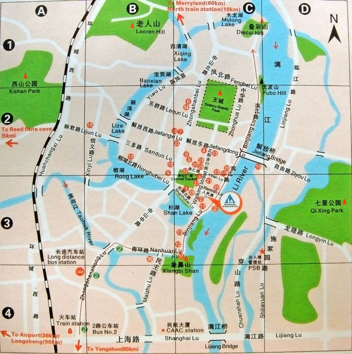 Guilin Transportation Map