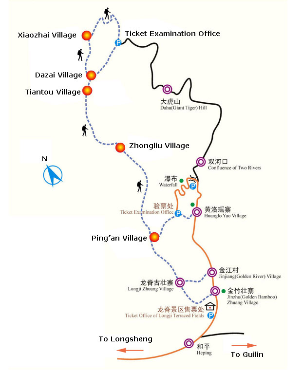 Longji Rice Terrace Map