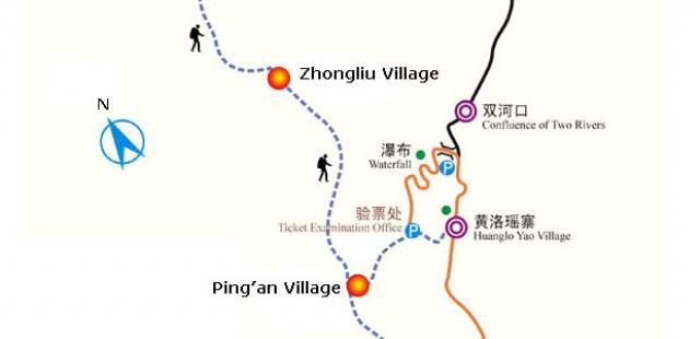 Longji Rice Terrace Map