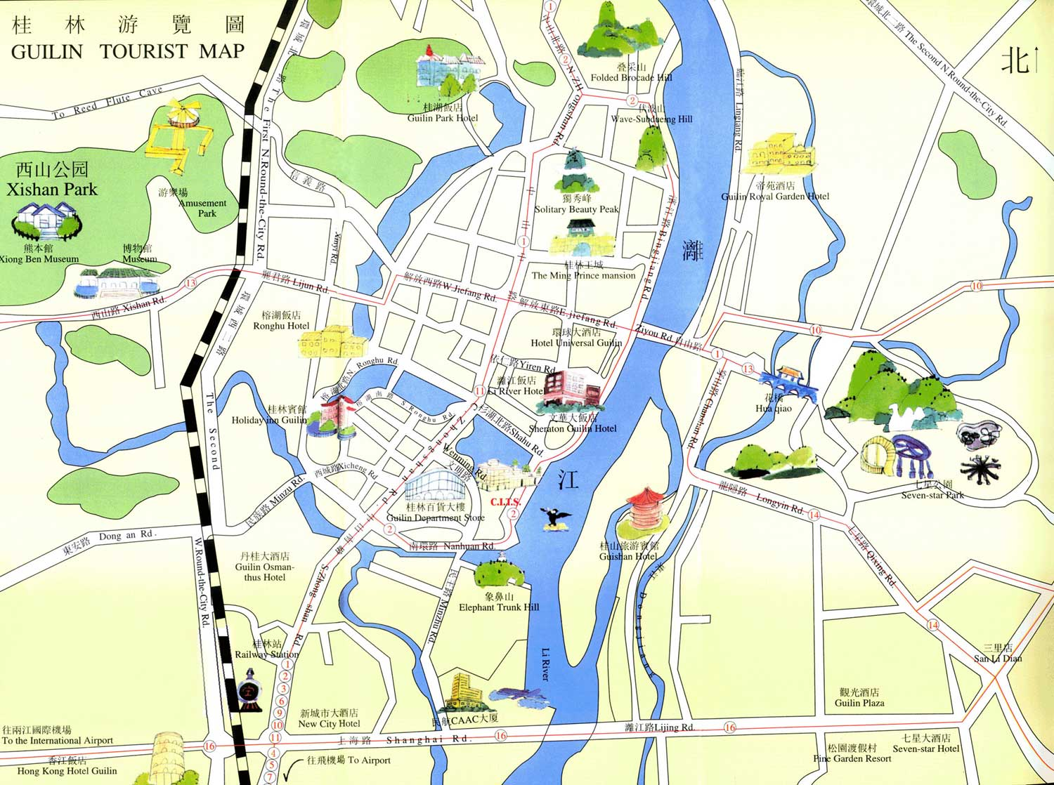 Guilin Tourist Map